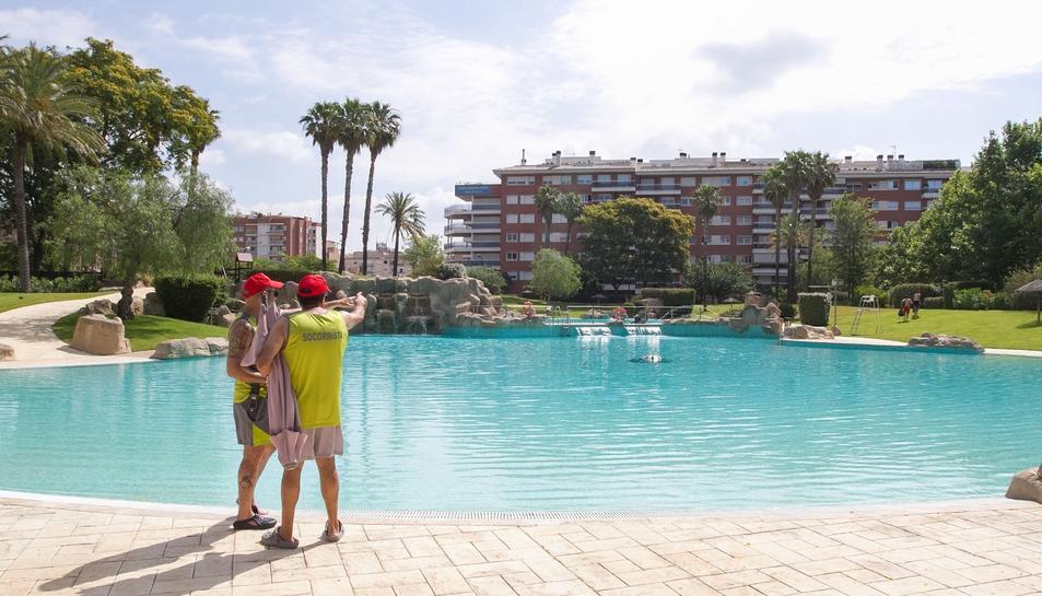 Una imatge d'arxiu de les piscines, una temporada anterior.