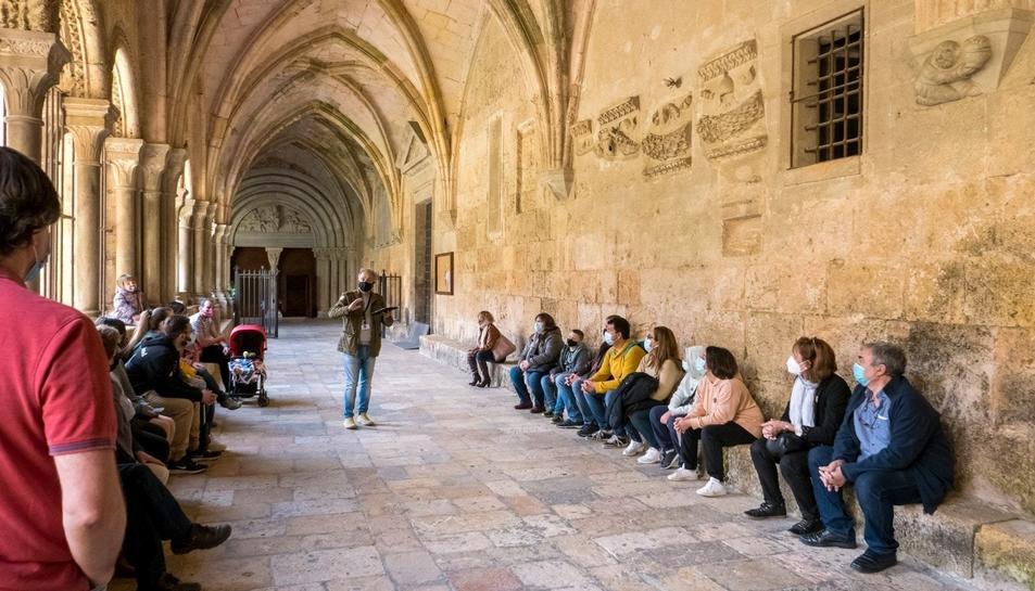 Imatge d'una de les visites que va dur a terme Itinere aquest passat cap de setmana a la Catedral.