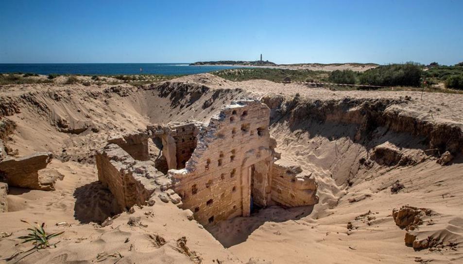 Imatge de les restes de les termes romanes localitzades al Cabo de Trafalgar.