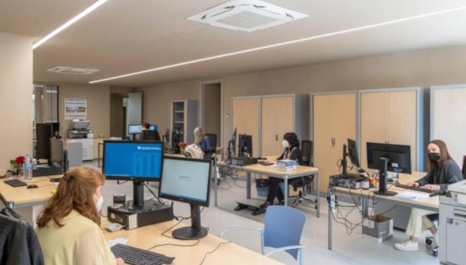 Pla general de l'oficina administrativa del Jutjat d'Instrucció i Primera Instància número 8 d'Arenys de Mar.