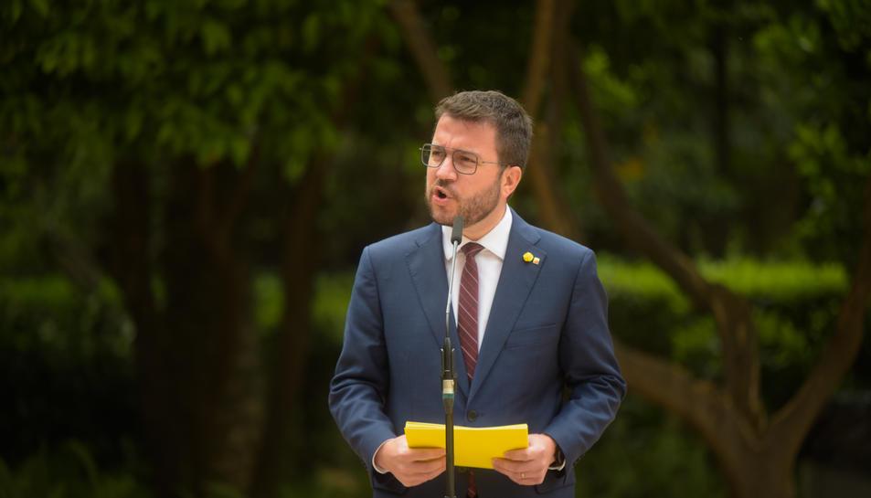 Pla americà del vicepresident de la Generalitat amb funcions de president i coordinador nacional d'ERC, Pere Aragonès.