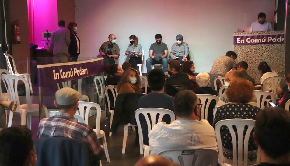 Pla general de l'assemblea d'En Comú Podem Tarragona.