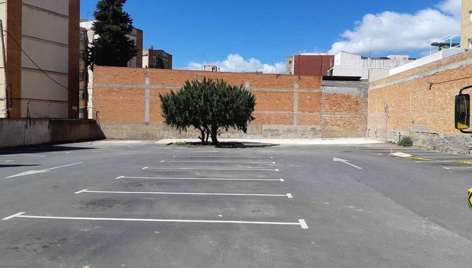 El aparcamiento de la calle Sor Lluïsa Estivill