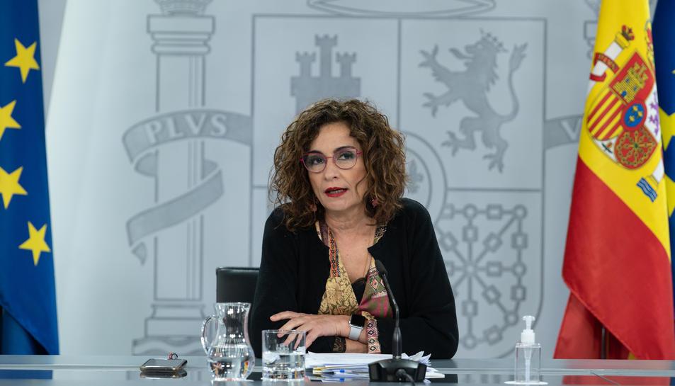 La portaveu del govern espanyol, Maria Jesús Montero.