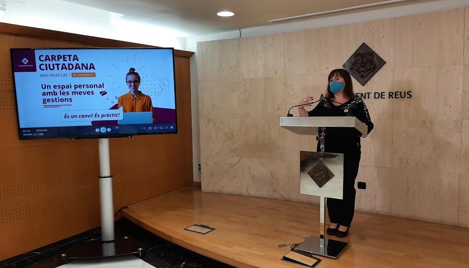 Roda de premsa de presentació de la nova Carpeta Ciutadana.
