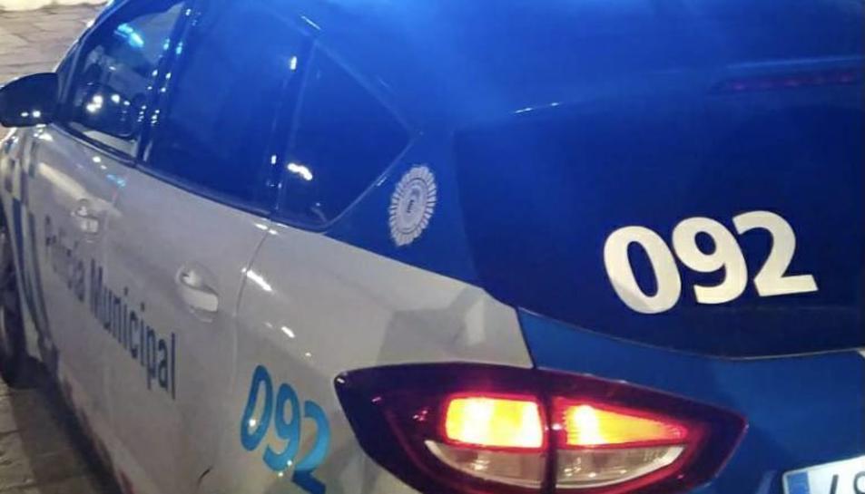 Imatge d'arxiu d'un vehicle de la policia local de Valldaolid.
