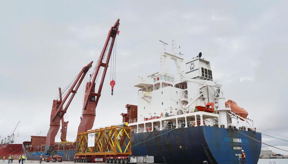 Les instal·lacions del Port de Tarragona són òptimes per al tràfic de Project Cargo