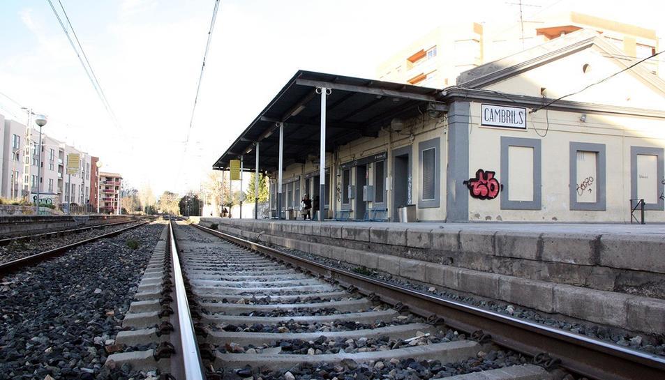 Imatge d'arxiu de l'antiga estació de Cambrils.