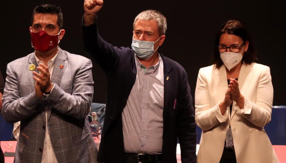 Pla mitjà del nou president de l'AMI, Jordi Gaseni, després de ser escollit.