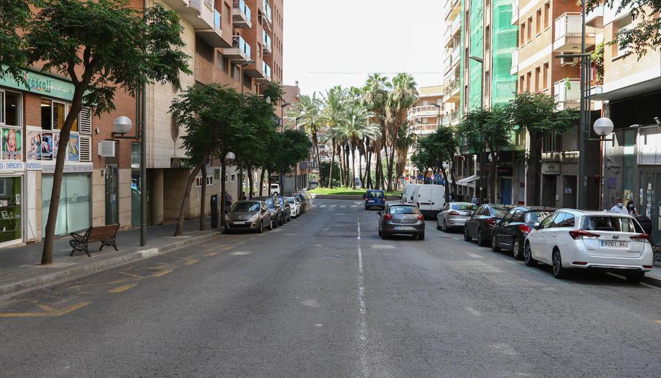 El carrer Pere Martell, situat a la zona de la Verge del Carme, serà un dels primers beneficiats.