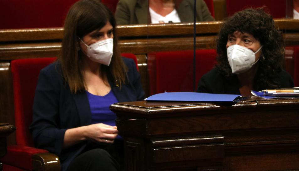 La consellera Gemma Geis al Parlament.