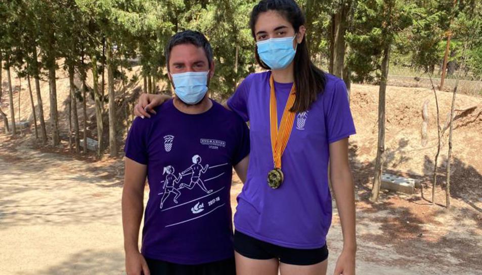 Bernat Rocamora amb Nuria Caballero.