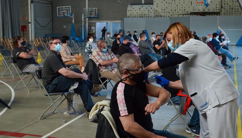 Imatge d'un centre de vacunació a Catalunya.