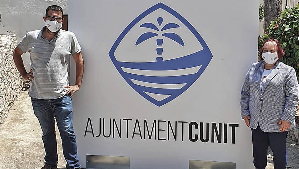 Aquesta és la imatge de la marca que ha creat l'Ajuntament de Cunit.