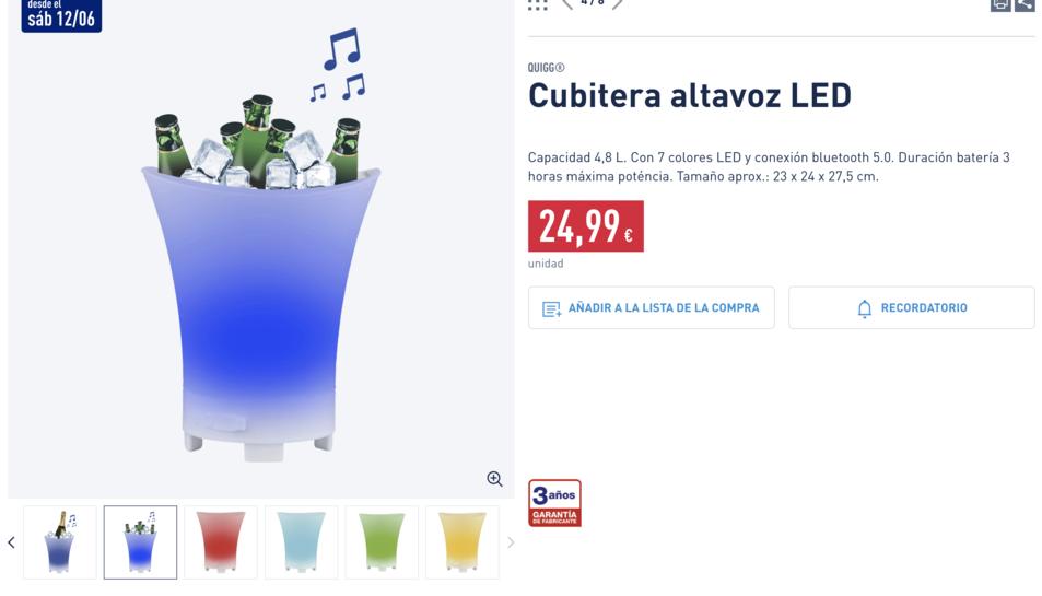 Imatge del producte a la pàgina web de la cadena, disponible a partir del dia 12.