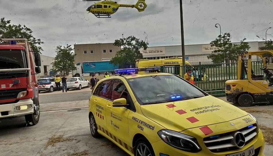 Imatge del carrer Sabaters del Polígon Industrial de Valls, on s'ha produït l'accident.