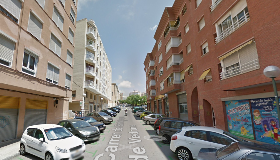 Captura de pantalla del carrer de Santa Joaquima de Vedruna.