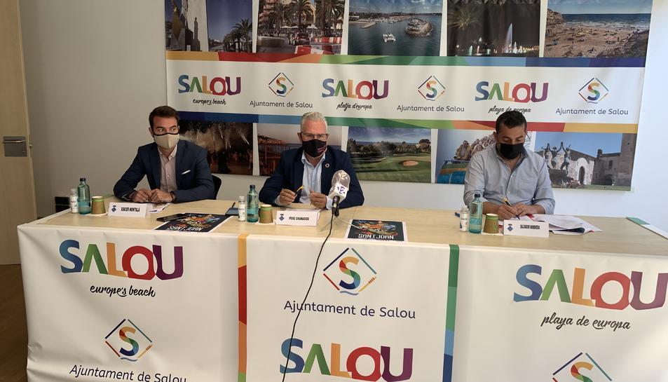 D'esquerra a dreta, Xavier Montalà, Pere Granados i Salvador Mimbrera.