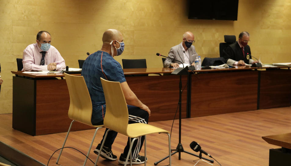 L'autor confés del crim de la Rambla de Figueres, declarant a l'Audiència de Girona.