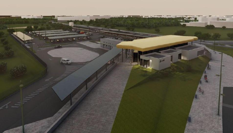 Imatge virtual del projecte de la nova estació de Salou-PortAventura