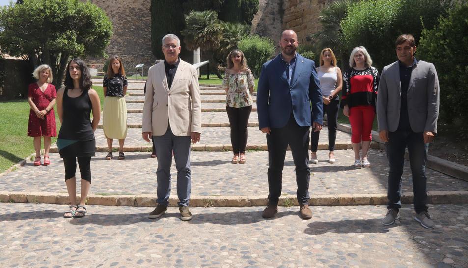 Pla sencer dels nous membres de l'equip de Govern de Tarragona.
