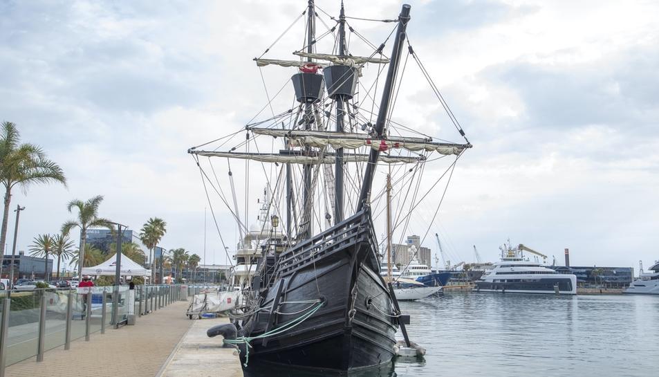El Nao Victoria atraca a Tarragona