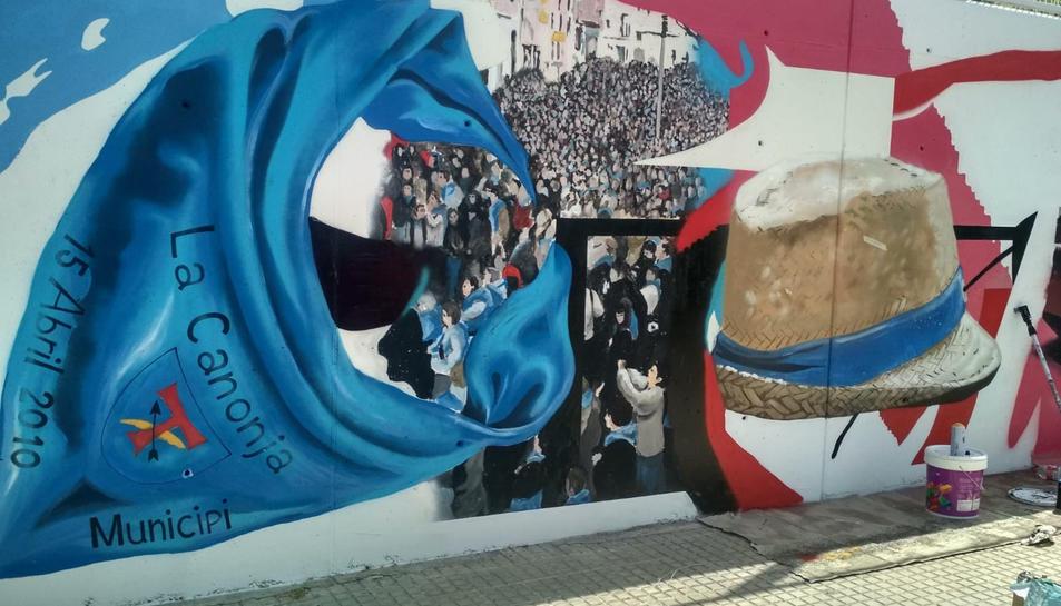 Detall del mural.