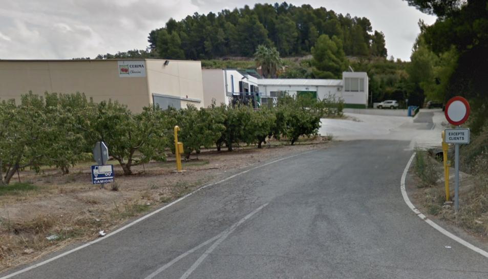 Imatge de l'empresa Cerima de Tivissa, on es va detectar el brot.
