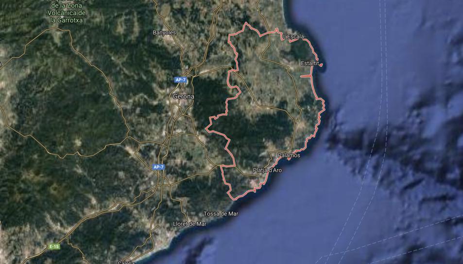 Imatge aèria del Baix Empordà.