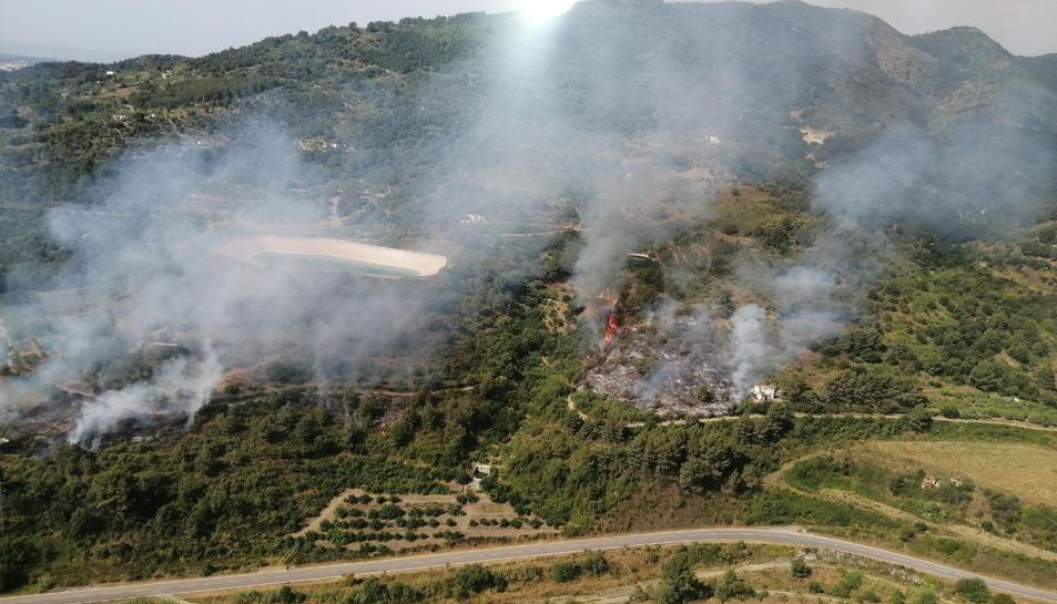 Imatge de l'incendi.