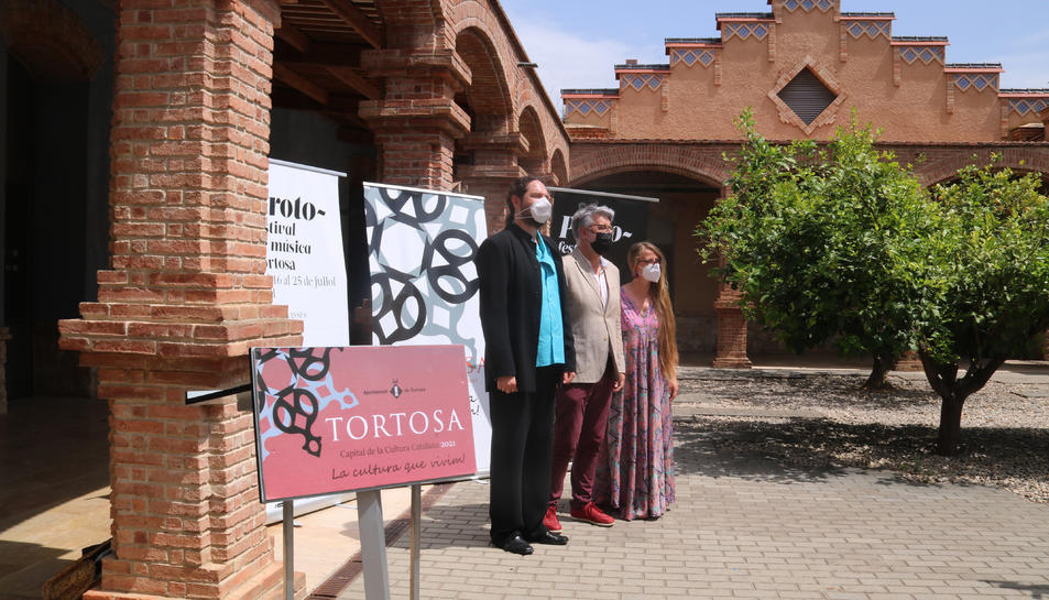 Pla general del tinent d'alcalde de Tortosa Enric Roig i els organitzadors de Proto.