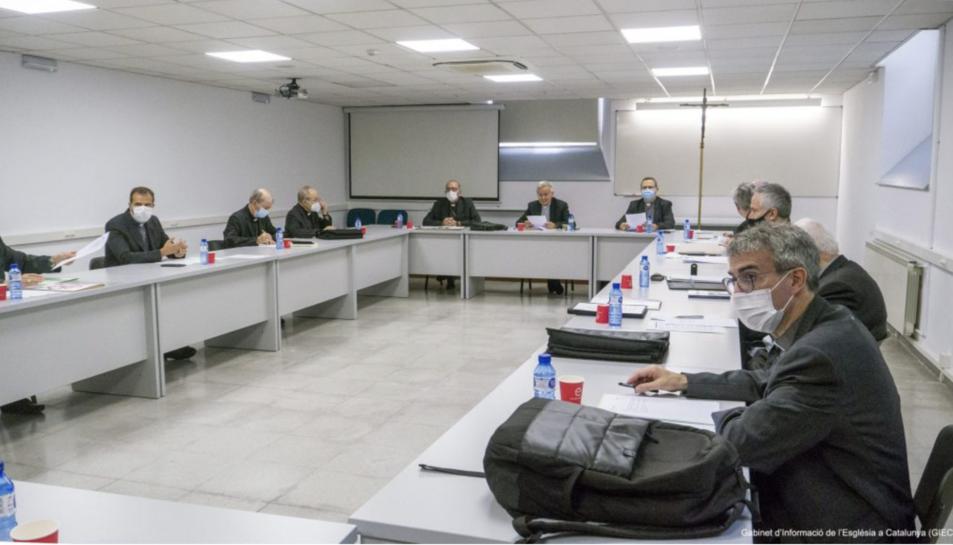 Imatge de a reunió de la Conferència Episcopal tarraconense.