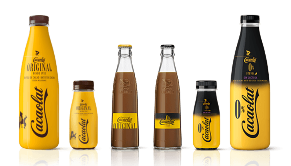 Imatge dels diferents productes que comercialitza el grup Cacaolat.