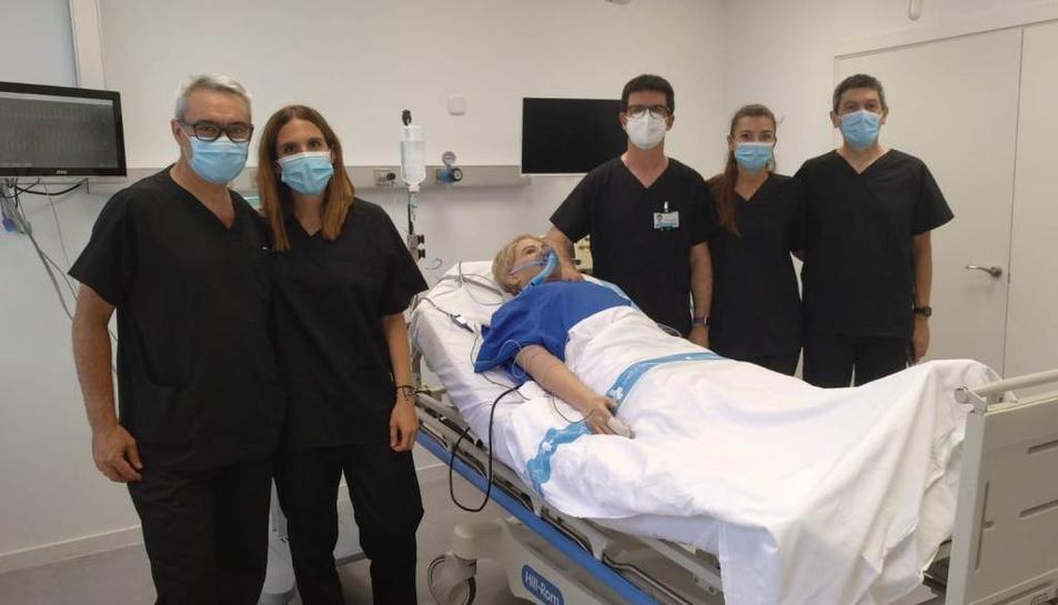 La nova unitat de simulació clínica servirà per a la formació dels professionals.