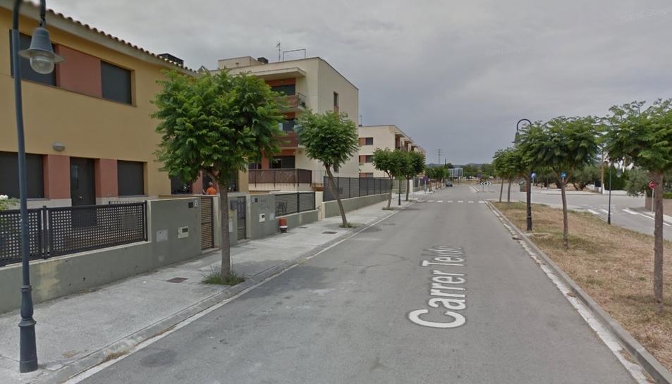 Imagen de la Calle Teide, donde se encuentra el chalé ocupado.