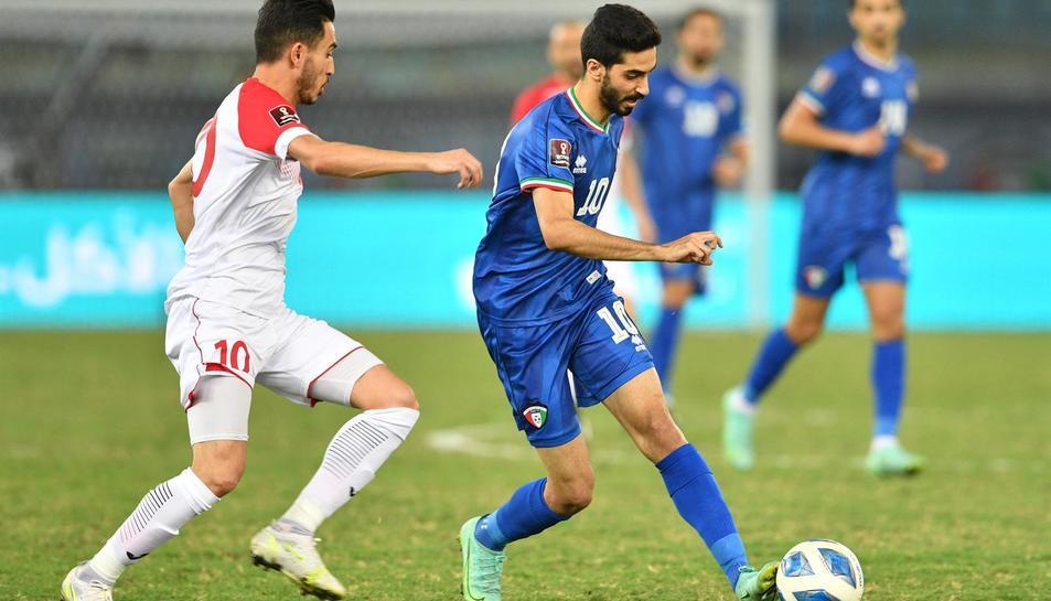 Imatge d'un partit entre Kuwait i Jordània per classificar-se pel Mundial.