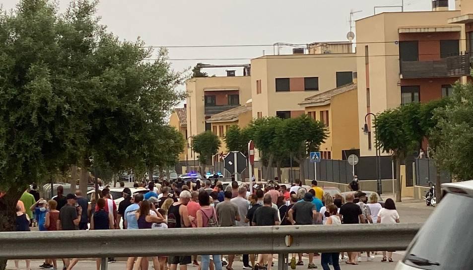 Imatge de la  manifestació contra els ocupes que va tenir lloc aquest dissabte.
