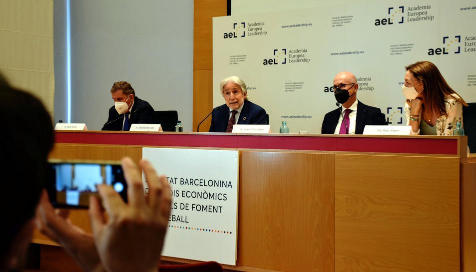 Presentació de l'Acadèmia Europea Leadership a la seu de Foment del Treball.