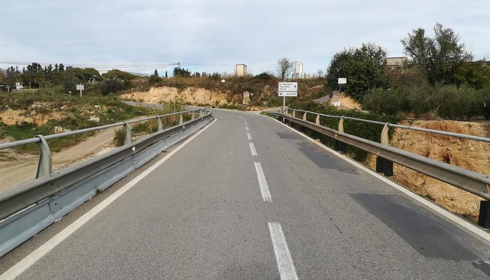 Imatge de l'estat actual de la carretera.