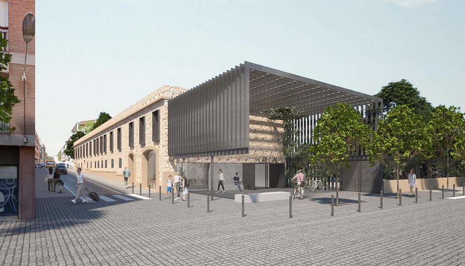 Imatge virtual del projecte del nou centre cívic Gregal de Reus.