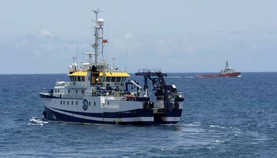 Imatge del vaixell oceanogràficÁngelesAlvariño.