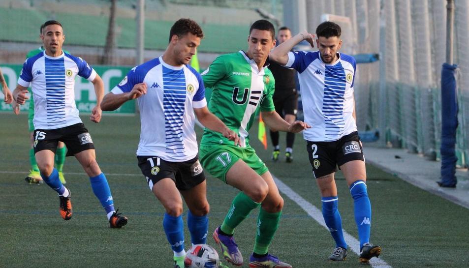 Pablo Fernández en un partit aquesta temporada contra l'Hércules.