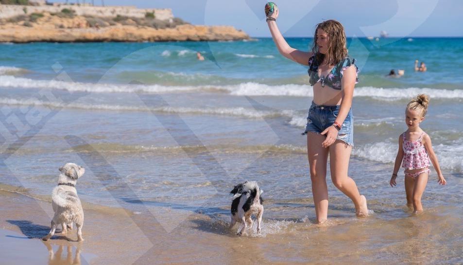 Inauguración de la zona de perros de la Playa del Milagro
