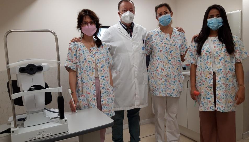Imatge de l'equip d'Oftalmologia Pediàtrica del Pius Hospital de Valls