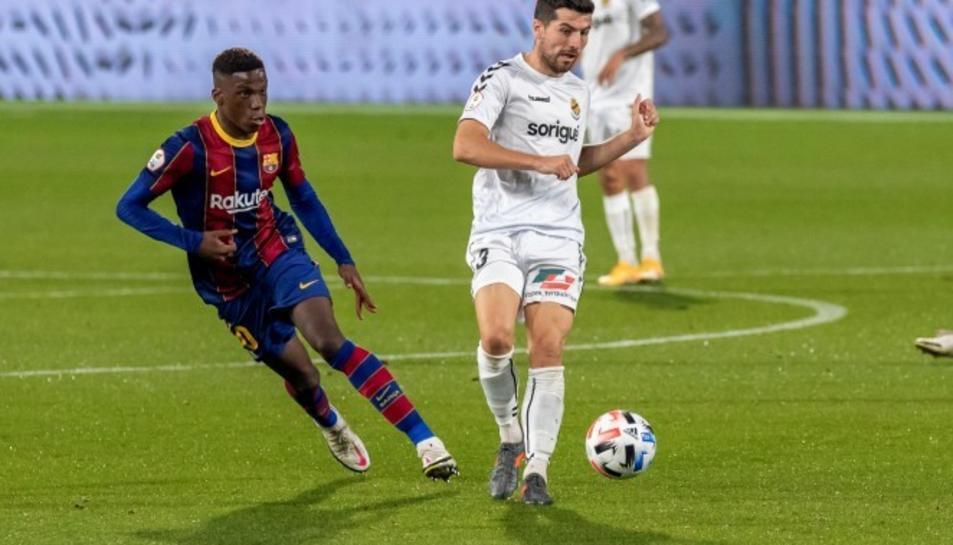 Imatge d'arxiu d'un partit entre el Barça 'B' i el Nàstic