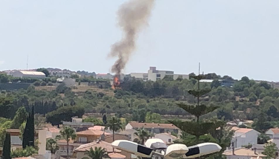 Imatge de l'incendi de Torredembarra