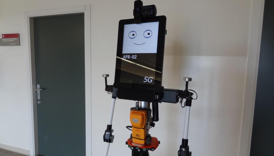 El prototip del robot que mesura el diòxid de carboni en un espai tancat.