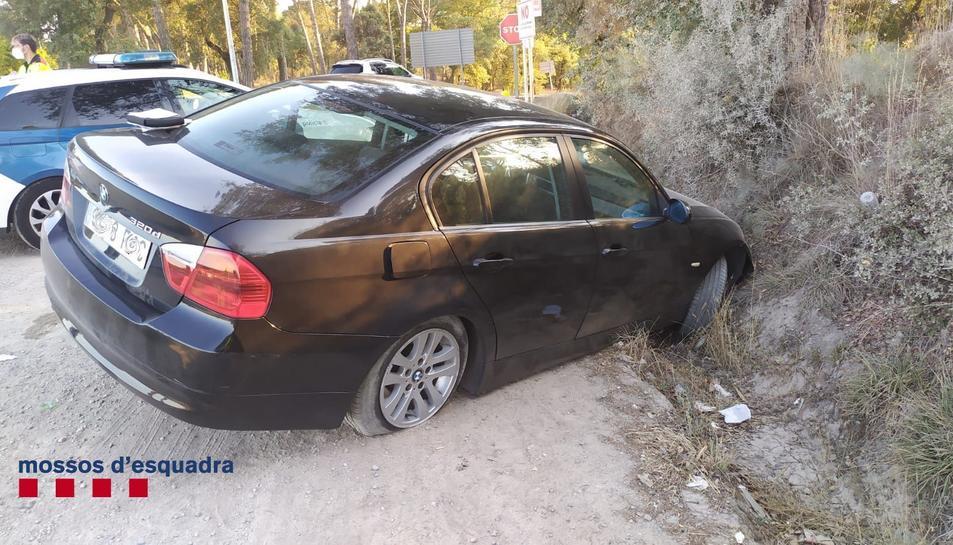 Estat del vehicle accidentat a Caldes de Malavella.
