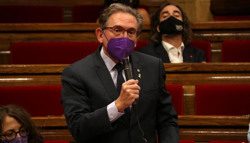 Imatge del conseller d'Economia i Hisenda, Jaume Giró, al Parlament.