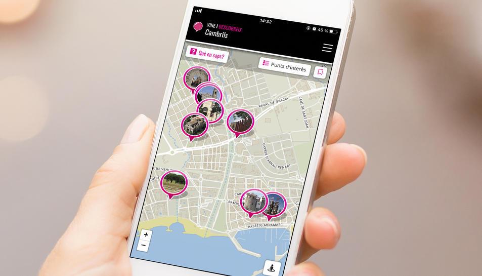 El mapa es pot descarregar també com una aplicació per al mòbil.